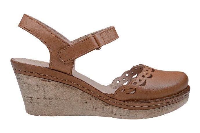 Sandały MANITU 910778-2 Brązowe