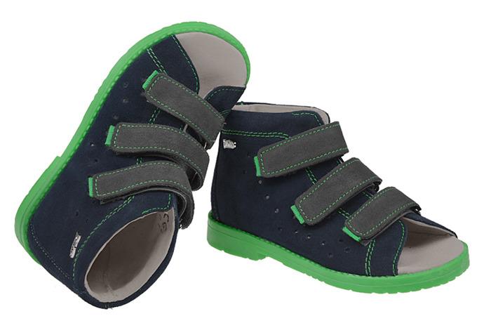 Sandały Profilaktyczne Ortopedyczne Buty DAWID 1043 Granat GZ