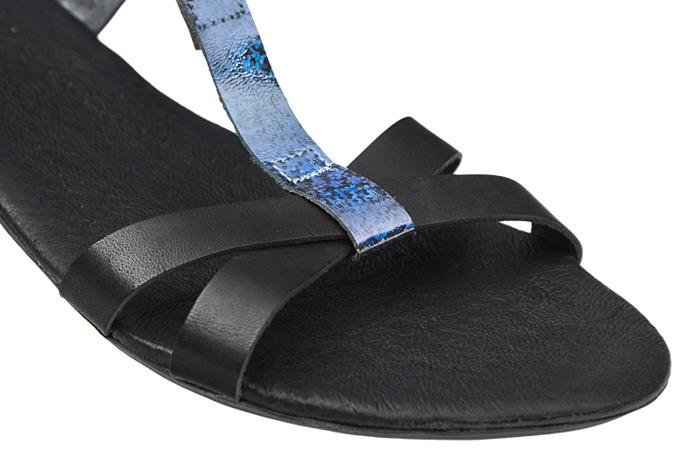 Sandały damskie VERONII 3491 Czarne+Grafit