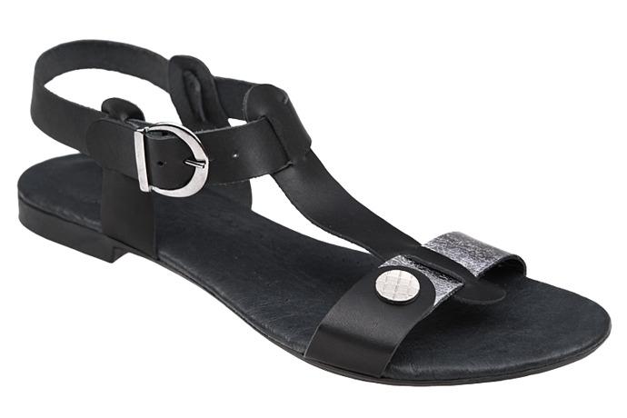 Sandały damskie VERONII 3494 Czarne+Nikiel