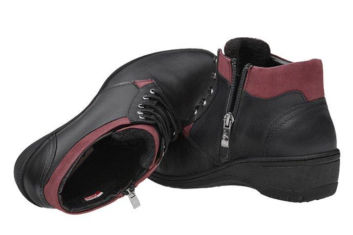 Trzewiki Botki AXEL Comfort 1439 Czarne ocieplane