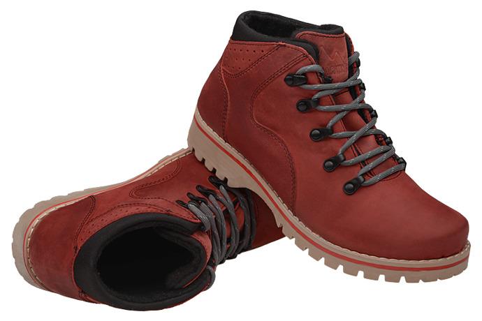 Trzewiki trekkingowe Kornecki VERONII 5264 ocieplane Czerwone