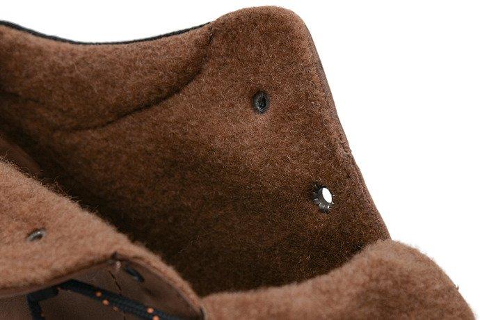 Trzewiki zimowe BADURA 4654-074 Brązowe ocieplane