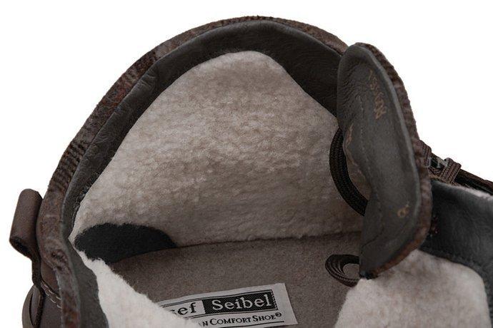 Trzewiki zimowe JOSEF SEIBEL 11702 Rudi 02 H Brązowe ocieplane