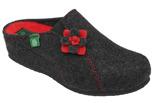 Kapcie Pantofle domowe Buty Dr Brinkmann 330132-9 Grafitowe