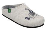 Kapcie Pantofle domowe Ciapy Dr Brinkmann 320482-81 Ecru