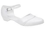 Pantofelki buty komunijne dla dziewczynki KMK 181 Białe